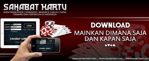 Main Game Online yang bisa menghasilkan uang ?  Ayo gabung di WWW.SAHABATKARTU.ME  Bonus Rollingan 0,5% Setiap minggu  Bonus Referal 15% Seumur hidup  PIN BB : 2BCDBEE2 | WA : 085581734028 #AGENDOMINO99 #AGENBANDARQ #BANDARQONLINE #SAHABATKARTU #AGENTERPERCAYA #SAKONGONLINE #CAPSASUSUN #POKER