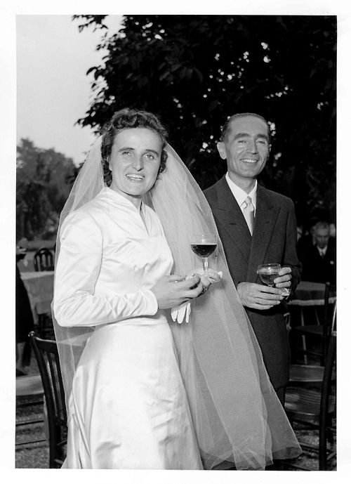 St. Gianna Molla and her husband on their wedding day