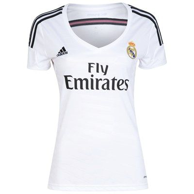 [ . ] Real Madrid Home Shirt 2014/15 Womens | Real Madrid/Adidas; $80.00