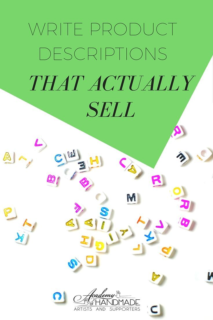 Writing Discriptions Selling Crafts Online