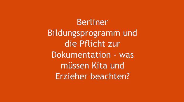 Berliner Bildungsprogramm und Fotos - was ist in Kita und Kindergarten dabei zu beachten?