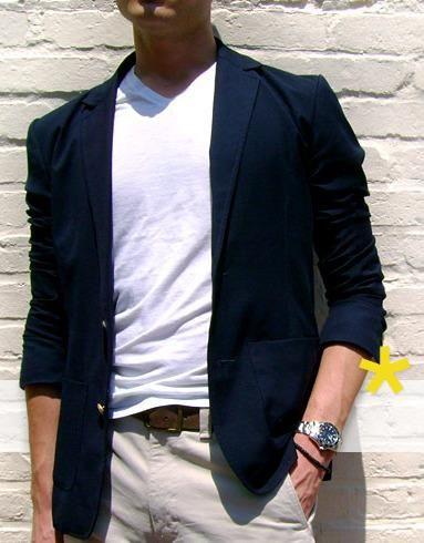 Мужской пиджак с укороченными рукавами