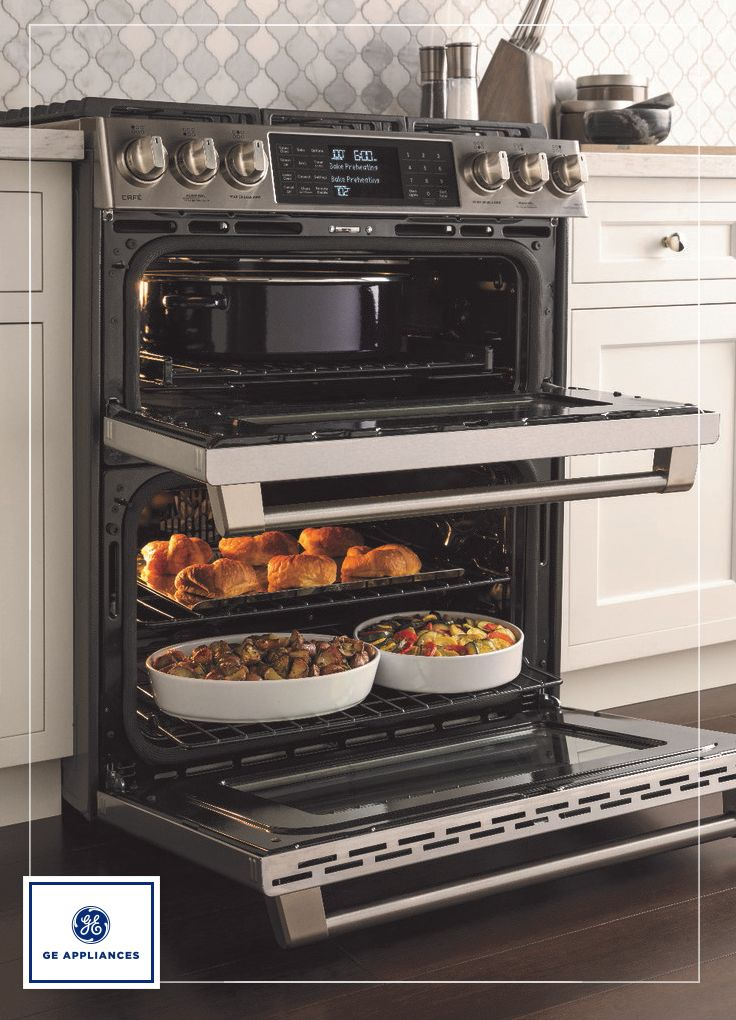 Sometimes good things come in the same-sized packages. That is definitely the case with our new GE Profile and GE Café front control slide-in ranges, which have been transformed into pioneering culinary masterpieces that maximize every inch of space, giving you sleek, custom look, edge-to-edge cooktops and connectivity to get you cooking with ease and confidence. Learn more: