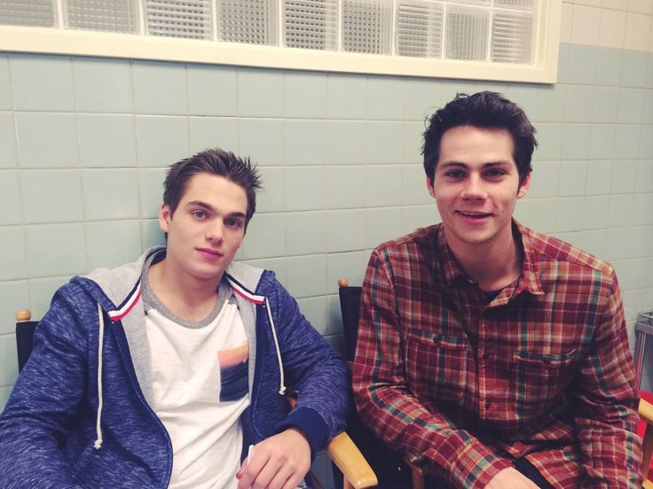 #DylanSprayberry #DylanOBrien on the set of #TeenWolfSeason5