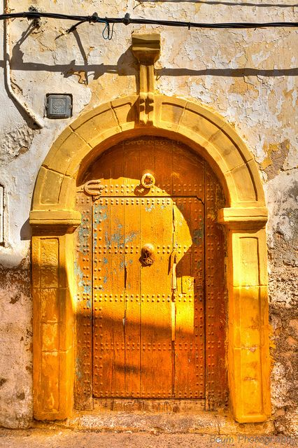 Africa | Old Medina's Yellow Door. El Jadida, Morocco