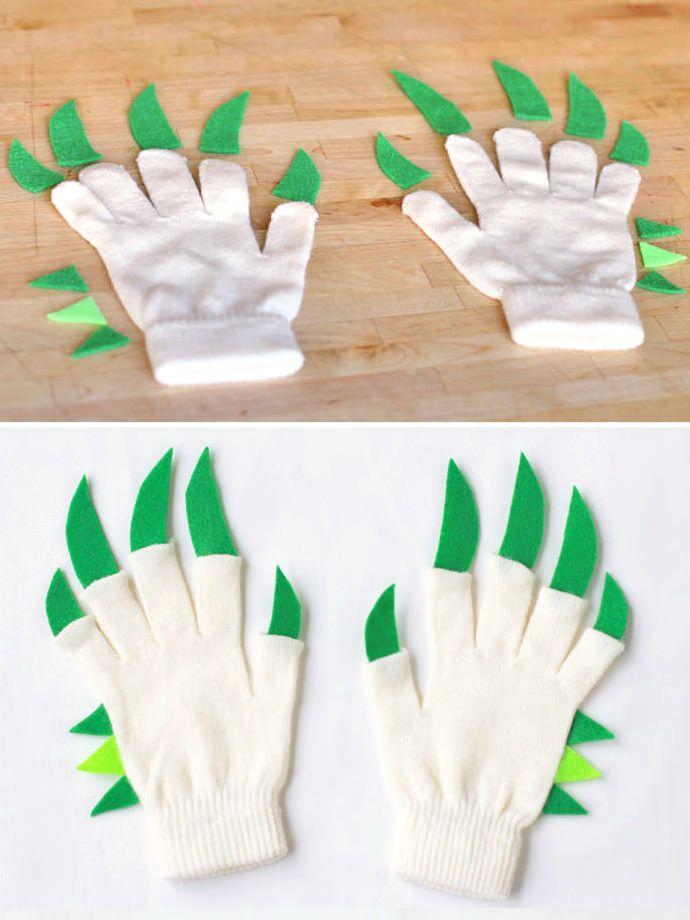 DIY Dragon Hands Gloves for Kids si hacemos algo de temática invierno... hay varios motivos para elegir...
