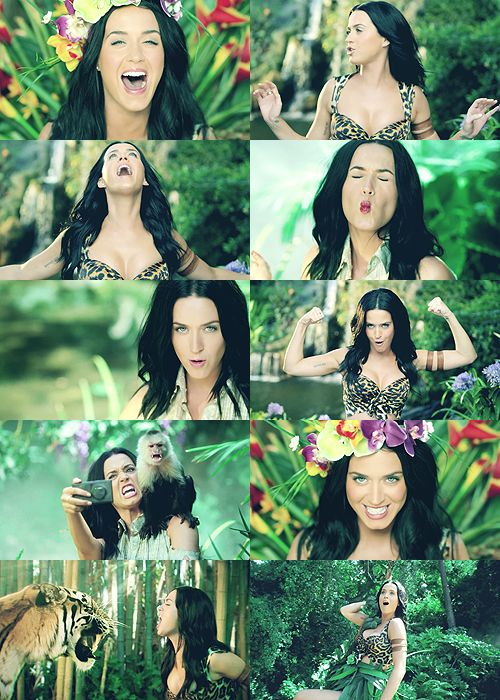 Katy Perry in Roar @Allyson Gribble these look like most of our snap chats