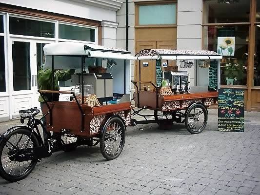 Could drive this coffee cart everywhere...