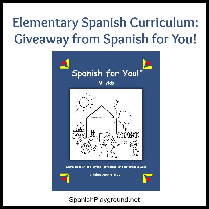 Elementary Spanish program - Spanish for You Giveaway of 3 themed packages! Enter through midnight 10-12.