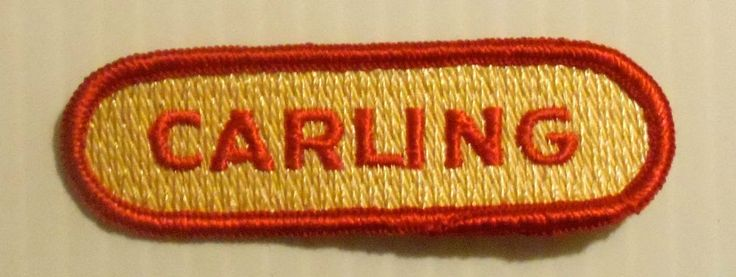 Carling Beer Patch Embroidered Ale 3 1 2 inch Vintage | eBay