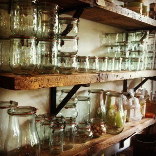 Rustic Pantry Shelves Rough Hewn Shelves Pantry Or