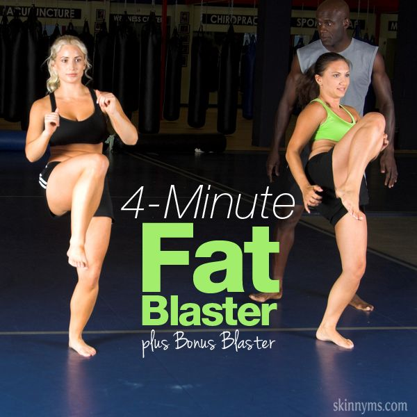 4 Minute Fat Blaster plus Bonus Blaster. #burnfat #4minuteworkout