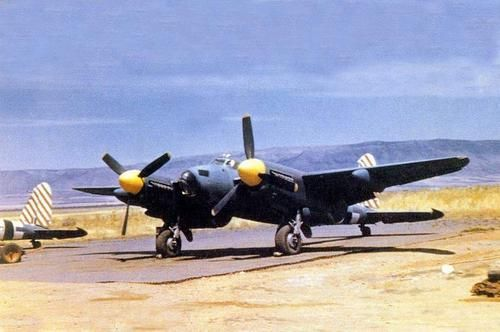 A Mosquito XVI of No 60 Squadron South African Air Force at the dispersal on San Severo Airfield, Foggia Airfield Complex, Southern Italy, 1944