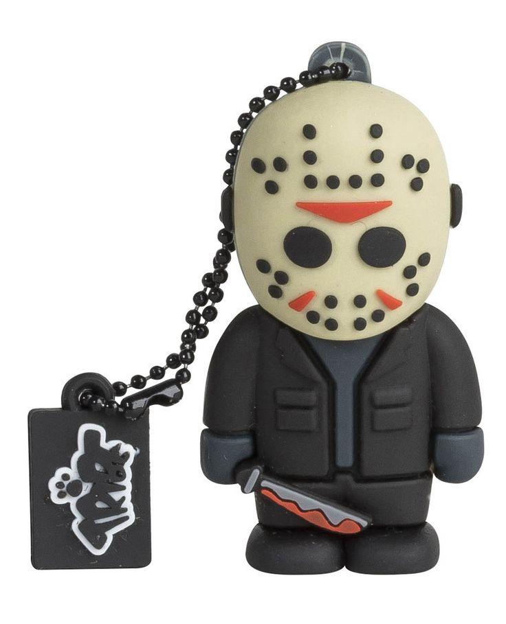 Memoria USB Jason con máscara 8 GB. Viernes 13. Tribe Estupenda memoria exclusiva del personaje de Jason con capacidad para 8 GB de datos, visto en la popular película de Viernes 13, 100% oficial y licenciada.