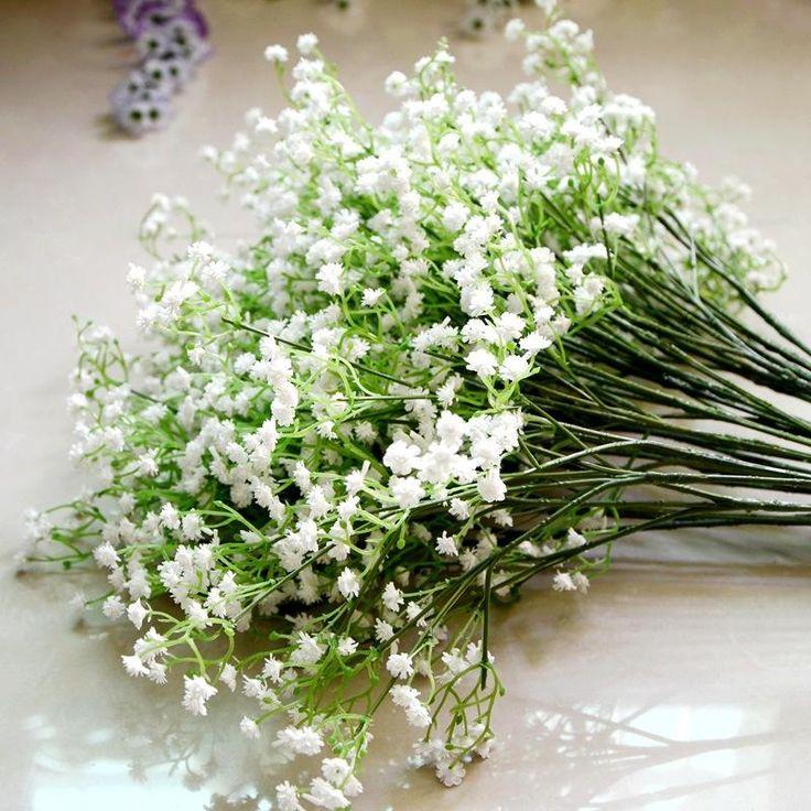 Heißer Verkaufs / Handwerk Schleierkraut Schleierkraut Pu Künstliche Gefälschte Seide Blumen Pflanze Hochzeit