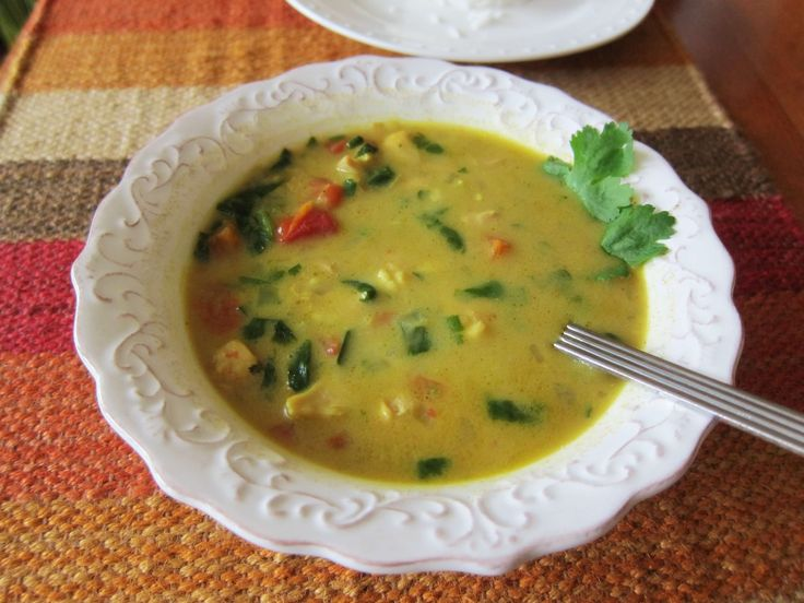 The coconut milk in this Indian-spiced Chicken Curry Soup recipe is a perfect complement to the spicy curry powder and jalapeno that flavor this soup.