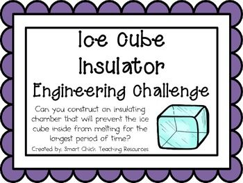 Ice Cube Insulation: Engineering Challenge Project ~ Great STEM activity!  Can you construct an insulating chamber that will prevent the ice cube inside from melting for the longest period of time? $