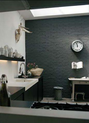Panel Decorativo Cocina. Bajo El Mueble De Pared Fregadero Y Lavador ...