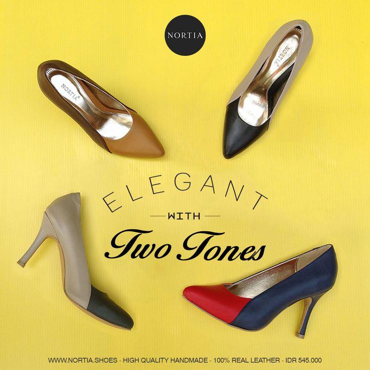 Be Elegant with Two Tones Series, grab it fast at www.nortia.shoes #nortia #sepatu #fashion #wanita #highquality #leather #pumps #smartlooks #madeinindonesia #jakarta
