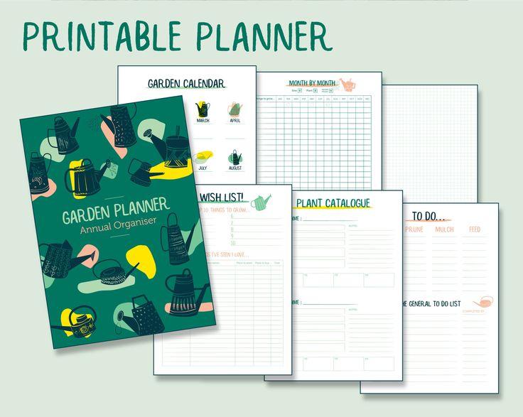 PRINTABLE Garden Planner | A4 & A3 Digital Download ...
