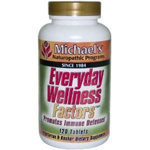 Everyday Wellness Factors (Replaces Immune System Factors) - 120 - Tablet by Michael's. Save 35 Off!. $20.89. Michael's Naturopathic Programs. Essential nutrients to support and strengthen the immune system. Immune System Factors by Michael's Naturopathic 120 Tablet Supplement Facts Serving Size Three (3) Tablets Amount Per Serving Daily Value Vitamin A (as Beta Carotene)...15 000 IU Vitamin C (as Calcium Ascorbate)...60 mg Vitamin E (as d-alpha Tocopheryl Succinate)...45 IU Th...