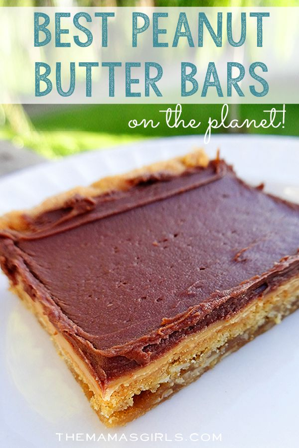 Best Peanut Butter Bars on the Planet!