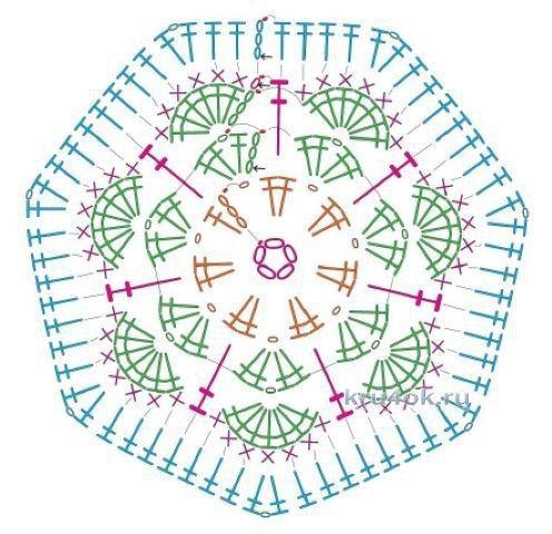 Сова из мотивов Африканский цветок крючком вязание и схемы вязания