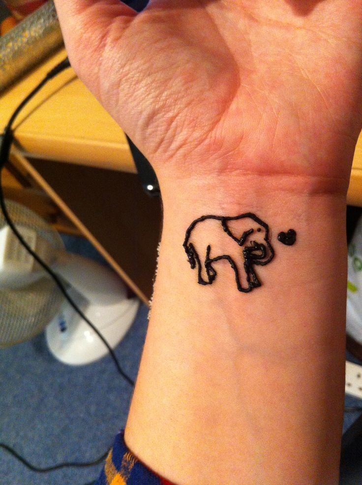 Henna Tattoo Designs For Love: Elephant Henna Tattoo. Love It. My First Go At Henna