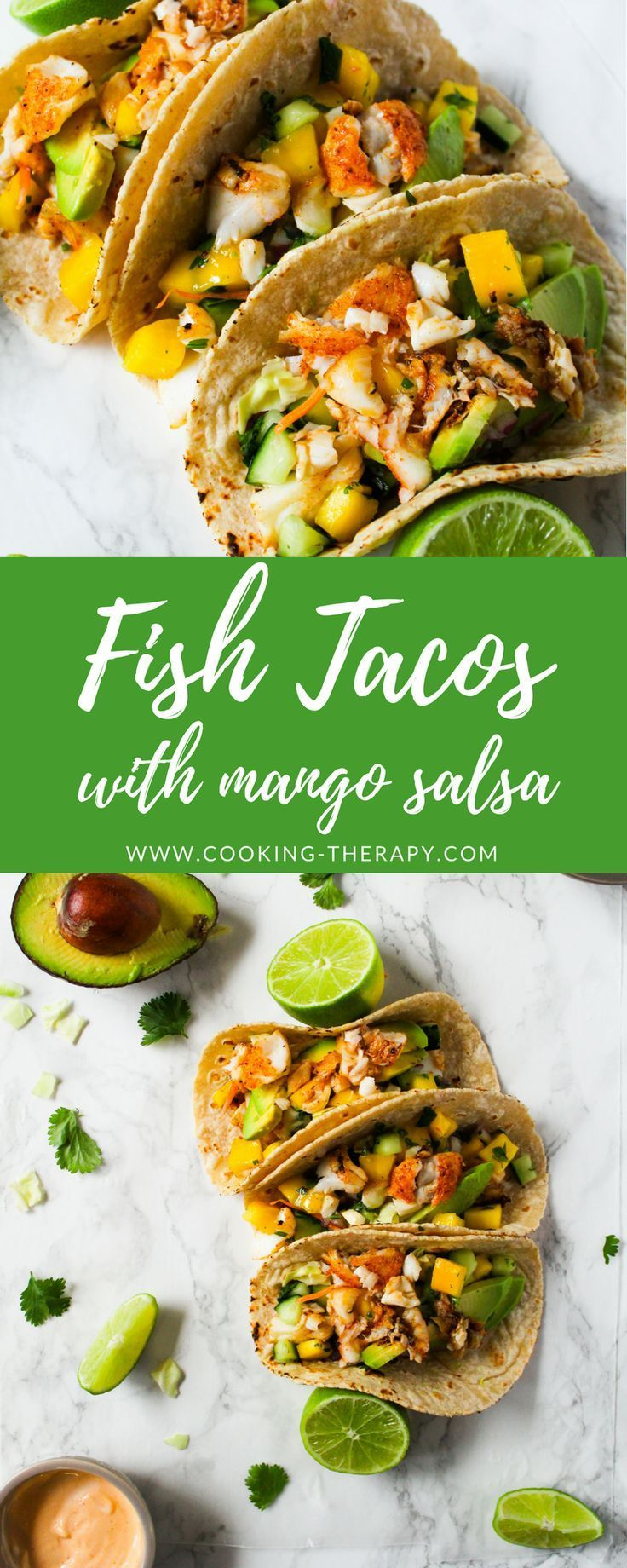 Fish Tacos with Cod and Mango Salsa