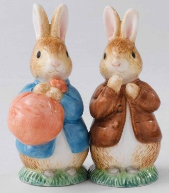 Peter Rabbit And Benjamin Bunny Salt And Pepper
