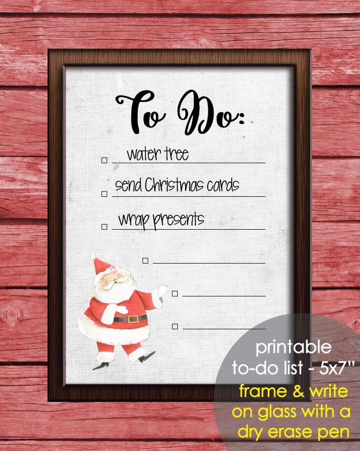 FREE printable Christmas Santa Claus To Do List! Print, frame and ...