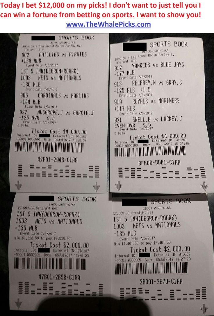 I put my money where my mouth is every single day! Today I bet $12,000 on my sports picks for July 5, 2017:  http://www.TheWhalePicks.com/free  #sportspicks #freepicks #sportsbetting #cbb #ncaab #nba #mlb #nfl #gamble #gambling #thewhalepicks #baseball #basketball #football #bet #bets #betting