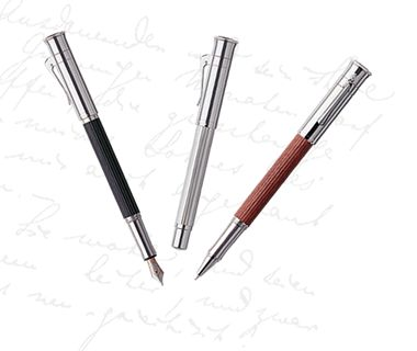 Show off your elegant script with a precision writing instrument, the Graf von Faber-Castell Classic Fountain Pen.