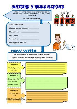 news article writing activity for 5th