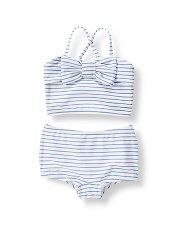 Janie and Jack Striped Bow Bikini... Perfect for visiting grand-mere et grand-pere in Corsica!