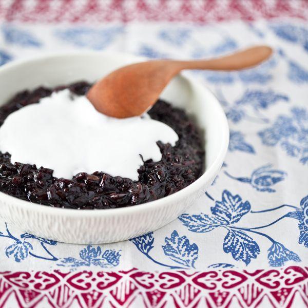 black rice pudding