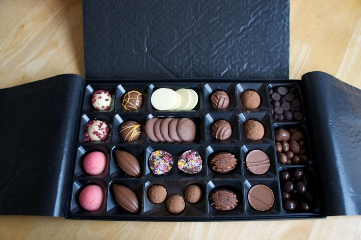 A lovely overhead shot of the 'Best of the Best' chocolate selection from @svmitche