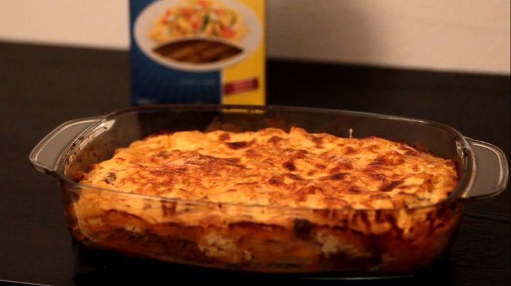Glutenvrije Griekse pasta ovenschotel