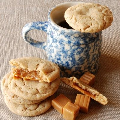 This looks amazing! Caramel Stuffed Apple Cider Cookies