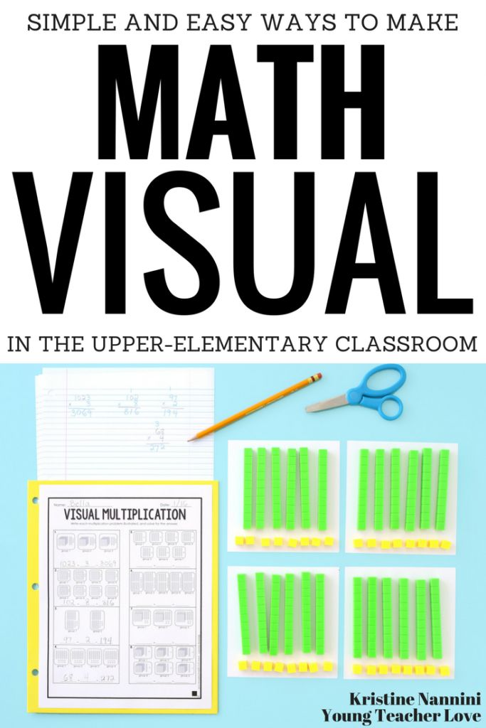 Simple and Easy Ways to Make Math Visual in the Upper-Elementary Classroom - Young Teacher Love by Kristine Nannini