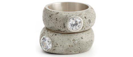 Erin Tracy, jeweller - concrete diamond ring - concrete jewelry | Betonsierraad - ring beton-diamant