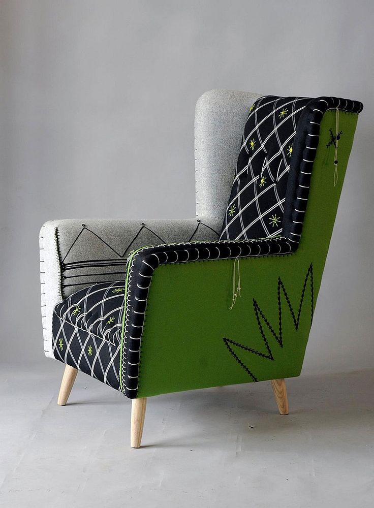 Africa Rising: Best of Cape Town Design. Hand embroidered and embellished armchairs by Casamento.