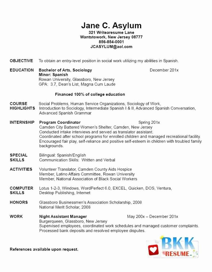 Graduate school resume example best of new grad resume new