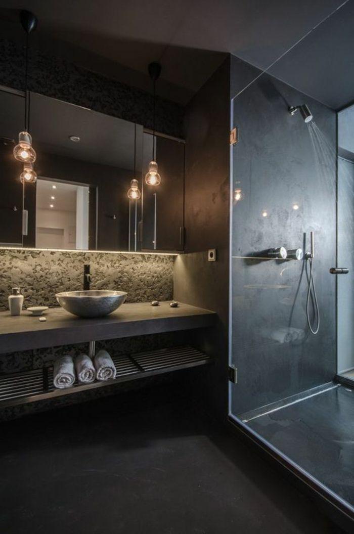 1001 id es pour cr er une salle de bain nature comptoirs en b ton salle de bain zen et. Black Bedroom Furniture Sets. Home Design Ideas