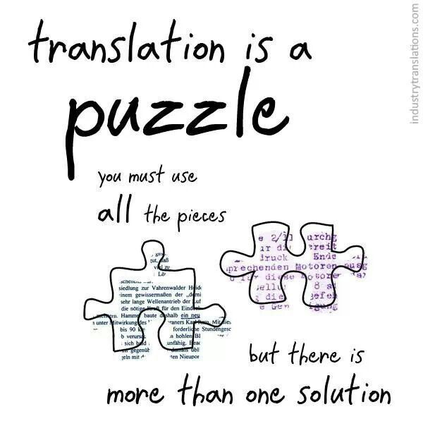 Translation is a puzzle Quotes Frases Pinterest Frases - medical interpreter resume