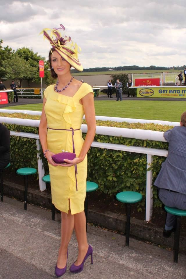 JHK Millinery at the Irish Derby, Curragh Racecourse, 2014.
