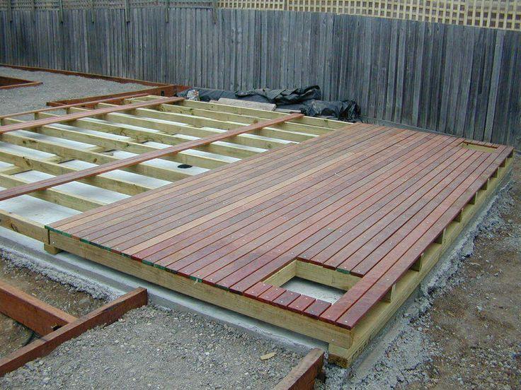 building deck over concrete slab Google Search Deck