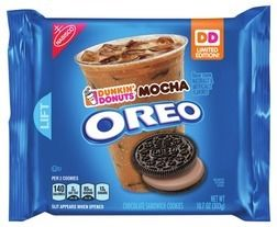 Nabisco Dunkin' Donuts Mocha Oreo Cookies 10.7 oz or Nabisco Oreo Cookies, 10.7-15.35 oz from Kroger $2.99