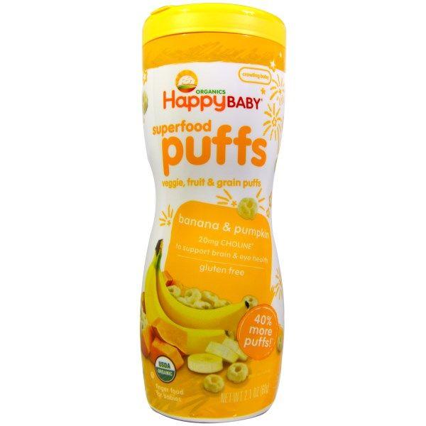 Nurture Inc. (Happy Baby), Organics, Superfood Puffs, Veggie, Fruit & Grain, Banana & Pumpkin, 2.1 oz (60 g)