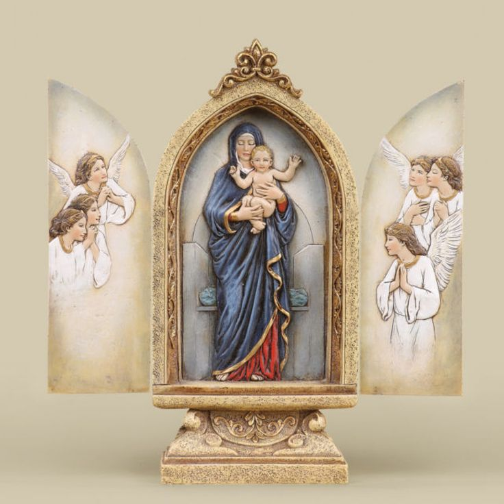 Madonna Triptych Stand by Joseph's Studio - JOSEPH STUDIOS - Religious Figurines - COLLECTABLES